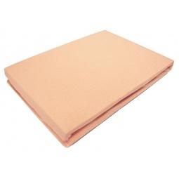 фото Простыня на резинке трикотажная ЭГО. Цвет: оранжевый. Размер простыни: 160х200 см