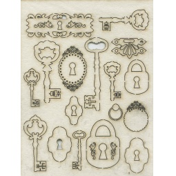 Купить Чипборд Кустарь «Замочные скважины, ключи, замки»