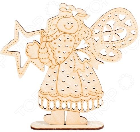 Заготовка деревянная для росписи Buratini «Счастливая звезда» DZ50011Деревянные заготовки<br>Заготовка деревянная для росписи Buratini Счастливая звезда DZ50011 качественное изделие из фанеры, используется для ручного творчества. Поверхность заготовки не окрашена, благодаря тщательной шлифовке оно сразу же может покрываться краской и различными элементами декора. Заготовку также можно приклеить к какому-либо изделию, если такова дизайнерская задумка. Для этих целей рекомендуется использовать строительный клей ПВА. Размер готового изделия 162х152 мм. Толщина 3 мм.<br>