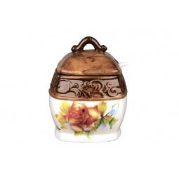 Купить Банка для хранения с ложкой Коралл HC2012B-D39 «Розы»