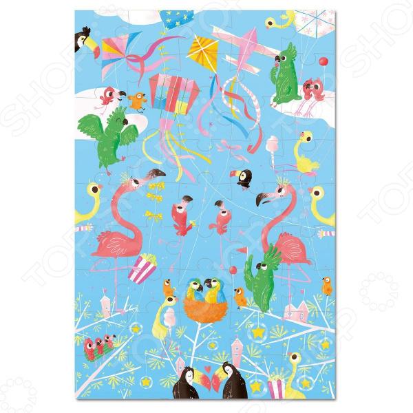 Пазл 45 элементов Krooom «Воздушные змеи»Пазлы (31–100 элементов)<br>Пазл 45 элементов Krooom Воздушные змеи предназначен для таких маленьких, но уже таких любознательных малышей. Внутри упаковки находится набор из 45 деталей. Части изображения соединяются между собой с помощью пазлового замка. Собрав все элементы воедино, у ребенка получится яркая картинка, на которой изображены воздушные змеи и птицы невиданной красоты. Пазл 45 элементов Krooom Воздушные змеи способствует развитию зрительной координации, воображения, пространственного мышления, умения использовать форму предмета, а также мелкой моторики рук ребенка. Кроме того, тренируется наблюдательность, образное восприятие и логическое мышление. Также стоит отметить, что детали пазла не содержат вредных веществ и имеют влагостойкое покрытие.<br>