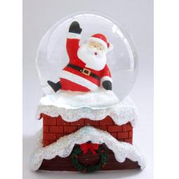 фото Снежный шар декоративный Crystal Deco «Санта»