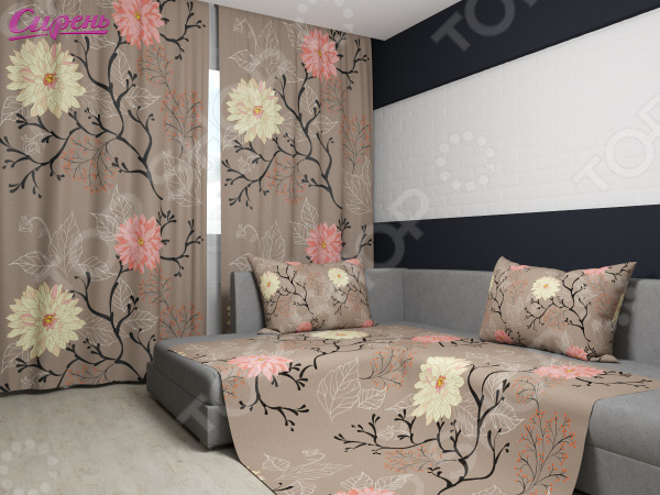 Комплект: фотошторы и покрывало Сирень «Древесные цветы»Фотошторы<br>Комплект: фотошторы и покрывало Сирень Древесные цветы это удивительной красоты декоративный и функциональный элемент каждой спальни или гостиной. Чем качественней эти изделия, тем более комфортным и уютным становится само помещение. Современные технологии позволяют создавать новые, улучшенные ткани и долговечные насыщенные краски, которые внесут в интерьер желанную атмосферу. Правильно подобранный, элемент декора придаст комнате мягкое солнечное настроение или создаст успокаивающую тихую гавань. Стиль комнаты будет зависеть от текстуры полотна и оттенков цветов, которые нужно грамотно и индивидуально подбирать под каждое помещение. Оцените достоинства комплекта Сирень Древесные цветы :  Оригинальный дизайн придаст ощущение покоя и отдыха на свежем воздухе, а также внесет сочные нотки в интерьер.  Фотошторы и покрывало дополнены изящным рисунком, который выполнен по технологии 3D. Яркие контрастные изображения будто сошли с полотна талантливого художника.  Комплект выполнен из прочного и износостойкого габардина, который хорошо пропускает свет и очень приятен на ощупь.  Фотошторы легко крепятся на карниз с помощью ленты. В данном комплекте вы найдете:  Две фотошторы, размер каждой из которых составляет 145х260 см 3 см .  Покрывало размером 145х220 см 3 см . Ухаживать за шторами и покрывалом очень просто, так как краски износостойкие и не выгорают на солнце. Также, ткань не выцветает даже после многократных стирок, сохраняя насыщенные оттенки. Стирать изделия рекомендуется при температуре 30 С, а гладить при 150 С. С комплектом Сирень Древесные цветы , вы сможете придать своей комнате нежный цветочный стиль.<br>