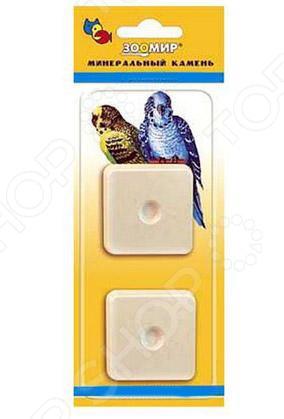 Камень минеральный для птиц ЗООМИР с пробиотиком камень минеральный для птиц зоомир с витаминами