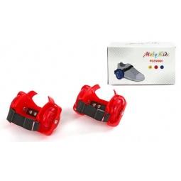 фото Роликовые коньки детские Moby Kids двухколесные. Цвет: красный
