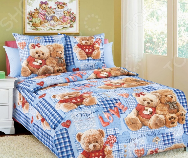 Детский комплект постельного белья Бамбино «Плюшевые мишки» детский комплект постельного белья бамбино волшебницы