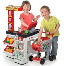 фото Игровой набор для ребенка Smoby «Супермаркет с тележкой». Цвет: белый