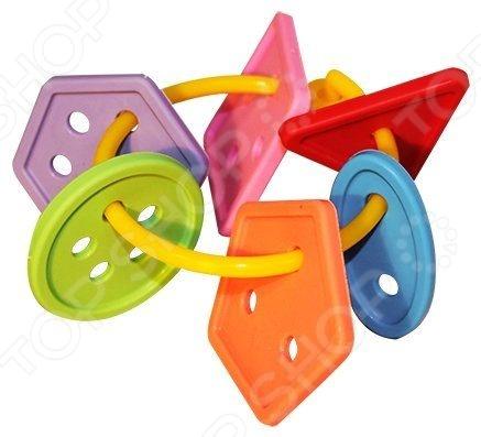 Игрушка-прорезыватель Пластмастер «Радужные пуговки»Пустышки и прорезыватели для зубов<br>Игрушка-прорезыватель Пластмастер Радужные пуговки незаменимая вещь, когда у малыша начинают резаться зубки. Изделие также можно использовать в качестве погремушки или подвесить над кроваткой. Изготовлено из мягкого пластика с учетом возрастных особенностей, поэтому безопасно для ребенка. Яркое оформление порадует и привлечет внимание малыша.<br>
