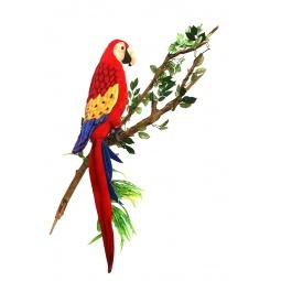 фото Мягкая игрушка Hansa «Попугай Ара красный»