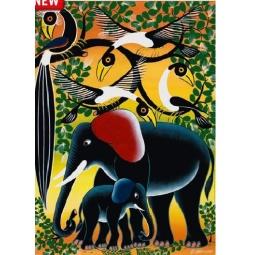 Купить Пазл 1000 элементов Heye «Семья слонов»
