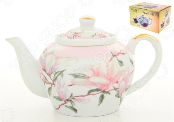 Чайник с ситечком Elan Gallery «Орхидея на розовом» 180313
