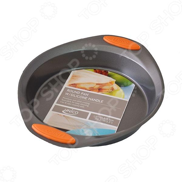 Форма для выпечки Mayer&amp;amp;Boch MB-20173Металлические формы для выпечки и запекания<br>Форма для выпечки Mayer Boch MB-20173 выполнена из качественных материалов с прочным и износостойким антипригарным покрытием по всей поверхности формы. С ним вы без труда сможете достать выпечку и очистить посуду. Главной особенностью данной формы являются силиконовые вставки на ручках, которые позволят вам без труда вынуть её из духовки. Они также не позволят форме случайно выскользнуть из рук. Практичная форма и стильный дизайн, без сомнения, заинтересует хозяек, которые любят заниматься выпечкой.<br>
