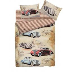 фото Комплект постельного белья Мармелад «Большие гонки». 1,5-спальный. Размер наволочки: 50х70 см