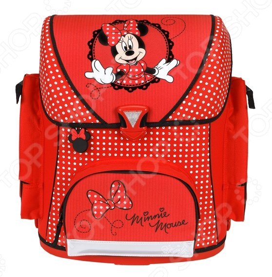 Рюкзак школьный Undercover Minnie MouseРюкзаки. Сумки. Портфели<br>Рюкзак школьный Undercover Minnie Mouse это отличный рюкзак для вашего ребенка, который подойдет для походов в школу. В основное отделение поместятся все учебники и тетради, а так же любые наборы карандашей, фломастеров и даже бутылочка воды. Лямки регулируются, изделие подойдет для детей любого роста. Кроме того, рюкзак оснащен широкими ремнями, что позволяет носить его весь день. Предмет декорирован ярким принтом, который точно понравится вашему ребенку.<br>