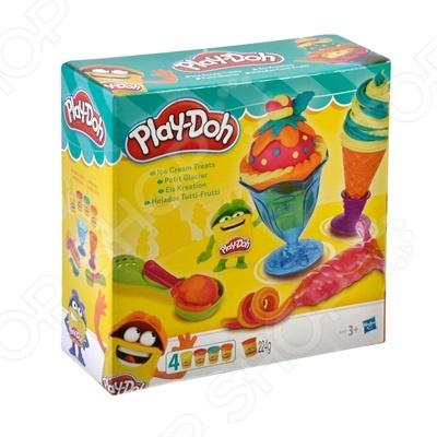 Набор пластилина игровой Hasbro «Инструменты мороженщика»Лепка из пластилина<br>Набор пластилина игровой Hasbro Инструменты мороженщика это удивительный способ создать симпатичную картину с помощью пластилина. Любому ребенку понравится работать с пластилином, ведь приятный на ощупь и с его помощью можно создать объемные и красочные фигурки. Этот набор станет увлекательным и полезным занятием для самых маленьких любителей лепки. С помощью лепки из пластилина у ребенка сформируется верное восприятие цвета, разовьётся мелкая моторика рук, внимание и образное мышление. Вы можете вместе с ребенком создавать фигурки, чем точно порадуете его.<br>