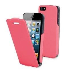 фото Чехол и пленка на экран Muvit iFlip для iPhone 5. Цвет: розовый