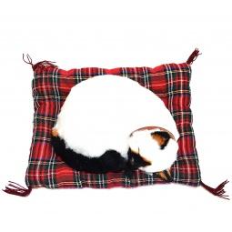 фото Мягкая игрушка интерактивная Zzz «Дышащая Сиамская кошка на коврике»