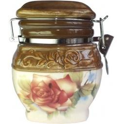 Купить Банка для хранения сыпучих продуктов Коралл «Розы»