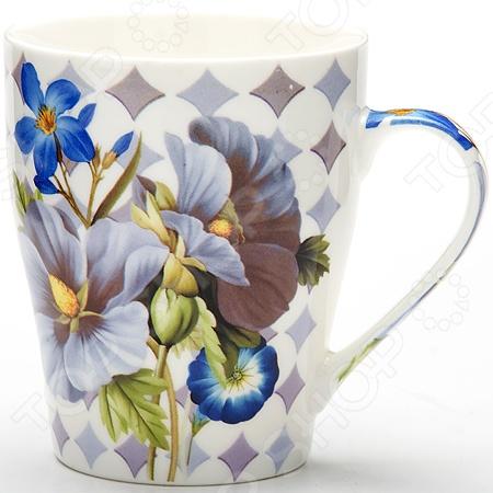 Кружка Loraine «Цветы» LR-24449Кружки. Чашки<br>Кружка Loraine Цветы LR-24449 - модель выполненная из керамики в оригинальном дизайне, станет красивым и полезным подарком для ваших родных и близких. Керамика - один из самых древних материалов, который использовали наши предки для изготовления посуды. С древних времен и до наших дней, керамическая посуда занимала важное место на кухне многих хозяек. Сегодня керамическая посуда по-прежнему пользуется большой популярностью и это не удивительно, ведь керамика - экологически чистый материал, который не наносит вреда здоровью, а кроме того керамическая посуда отличается большим разнообразие, поэтому каждый может выбрать изделие по своему вкусу.<br>