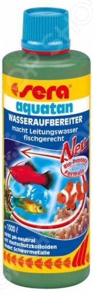 Sera Aquatan это современное и очень эффективное средство для подготовки аквариумной воды. Рыбки требуют к себе особого внимания, поэтому к уходу за ними стоит подходить крайне ответственно. Даже хорошо очищенная водопроводная вода может содержать вредные примеси, а специальная формула позволяет их полностью устранить. Хлор и хлорамины удаляются, а ионы тяжелых металлов, таких как медь и цинк, связываются. Использование данного средства обеспечит всех обитателей аквариума чистой водой и гарантирует оптимальные условия для их жизни.