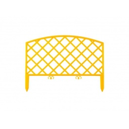 фото Забор декоративный Grinda «Плетень» 422207. Цвет: желтый