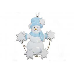 фото Елочное украшение Crystal Deco «Снеговик» 1707818