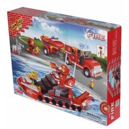 фото Конструктор Banbao Пожарная команда-катер и джип, 392 детали