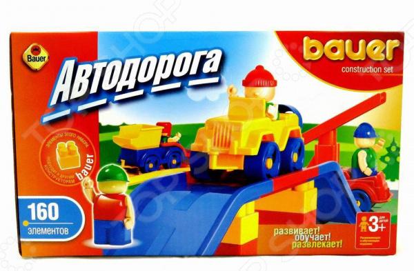 Конструктор игровой Bauer «Автодорога» ЯВ118350Игровые конструкторы<br>Конструктор игровой Bauer Автодорога ЯВ118350 оригинальный комплект для игры, состоящий из деталей, с помощью которых можно собрать игрушку. Для этого в комплекте есть всё необходимое. Детский конструктор является достаточно практичным учебным пособием, так как он развивает память, мышление, логику, фантазию, а также моторику рук. Сборка конструктора подарит ребенку массу удовольствия и приятное времяпрепровождение.<br>