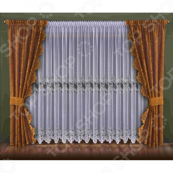 Комплект штор Wisan 092W золото/коричневый шторы wisan классические шторы гражиана цвет золотистый