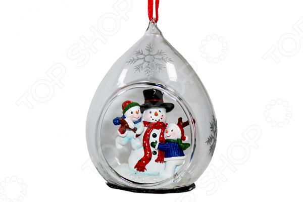 Елочное украшение со светодиодами Елочное украшение Crystal Deco «Семья Снеговиков»