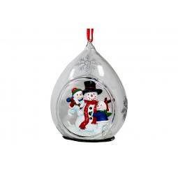 фото Елочное украшение Crystal Deco «Семья Снеговиков»
