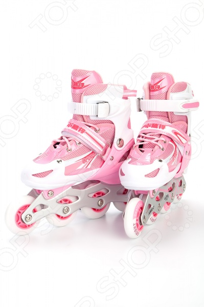Ролики раздвижные Bradex. Цвет: розовый играем вместе ролики раздвижные пластиковая рама дизайн marvel мстители