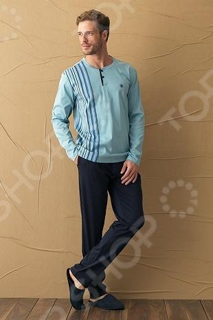 Комплект домашний мужской BlackSpade 7069. Цвет: светло-голубой