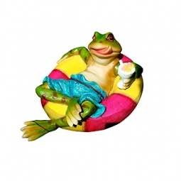 Купить Фигурка садовая плавающая GREEN APPLE GRWD1-18 «Лягушонок»