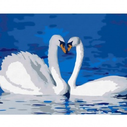фото Набор для раскрашивания по номерам Белоснежка «Лебединая верность»