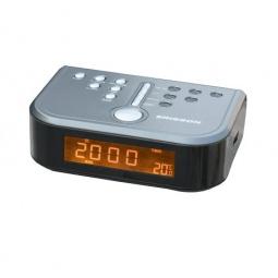 фото Радиочасы c термометром ERISSON RC-1206. Цвет: серый