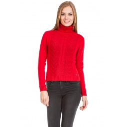 фото Свитер вязаный Mondigo 9044. Цвет: красный. Размер одежды: 42