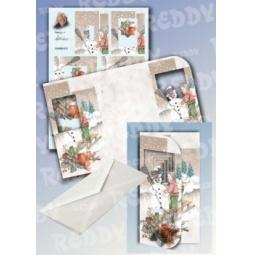 Купить Набор для создания открытки Reddy Creative Cards «Снеговик и мальчик»