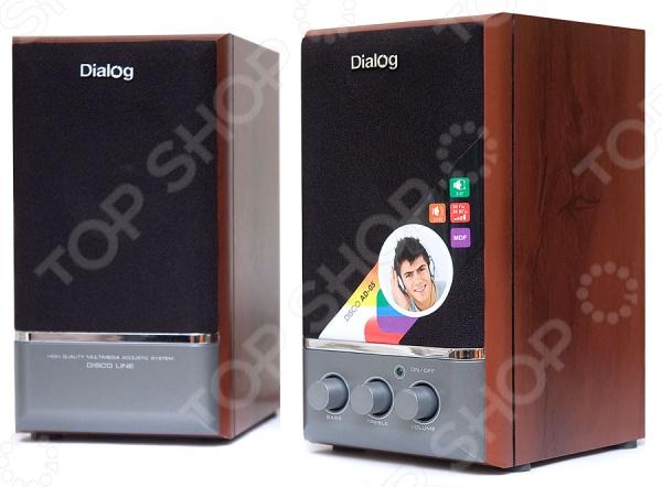 Колонки Dialog AD-05 колонки dialog disco ad 05 cherry 20w rms 2 0