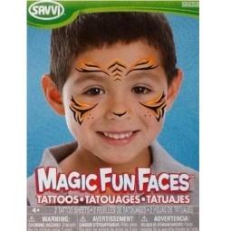 фото Татуировки временные детские Savvi «Маскарад. Тигр»