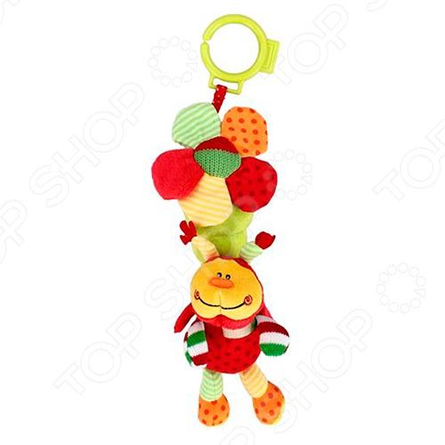 фото Игрушка-погремушка мягкая Жирафики «Божья коровка с колокольчиком», Погремушки. Подвески