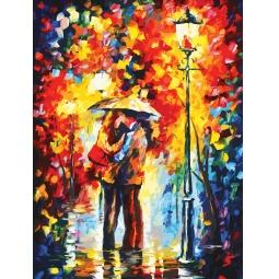 Купить Набор для рисования по номерам «Белоснежка» Поцелуй под дождем