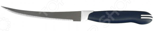 Нож Regent для овощей и фруктов Talis 93-KN-TA-7.2Ножи<br>Нож Regent Talis 93-KN-TA-7.2 с зубчатым лезвием из высококачественной стали станет незаменимым на вашей кухне. Представленная модель идеально подойдет для нарезки овощей и фруктов с тонкой кожурой и нежной мякотью. Лезвие долго остается острым, а цельнокованный клинок гарантирует долговечность изделия. Эргономичная объемная рукоять удобно ложится в ладонь, чтобы рука не уставала от долгой работы. Она выполнена из пластика, поэтому проста в уходе и очень надежна. Рельефная поверхность обеспечит надежный захват и не даст ножу скользить в руке при использовании. С ножом Regent Talis 93-KN-TA-7.2, вы почувствуете себя профессиональным шеф-поваром, который создает кулинарные шедевры день за днем.<br>