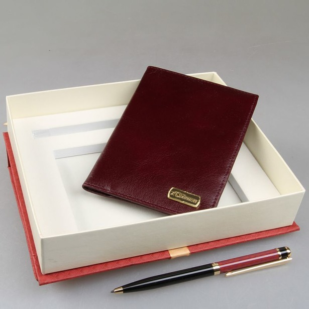 фото Набор: обложка для паспорта и ручка Venuse 76019