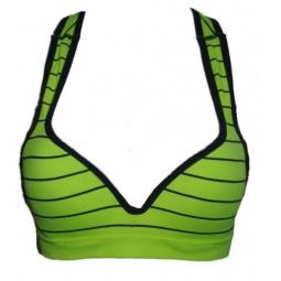 фото Топ корректирующий Burlesco Z108. Цвет: зеленый, черный. Размер одежды: 2XL