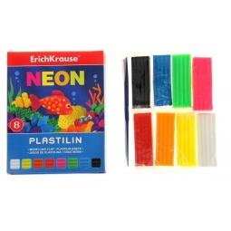фото Набор пластилина Erich Krause Neon: 8 цветов