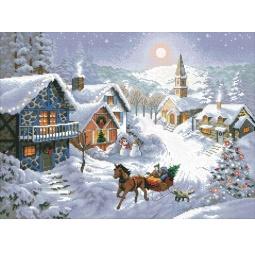 фото Набор для вышивания Белоснежка «Зимнее Раздолье»