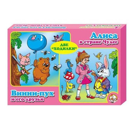 Купить Настольная игра Десятое королевство «Алиса в стране чудес и Винни-Пух. 2 в 1»