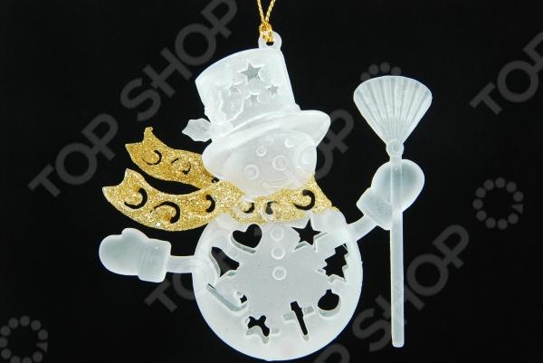Елочное украшение Crystal Deco «Снеговик» 1707763