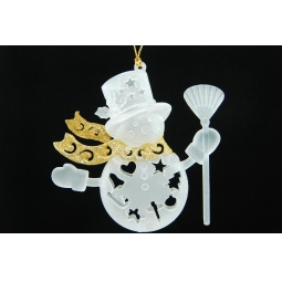 фото Елочное украшение Crystal Deco «Снеговик» 1707763